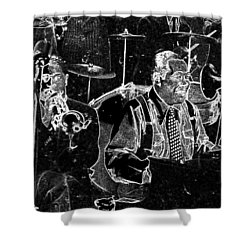 Duke Ellington Shower Curtain by Charles Shoup