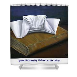 Shower Curtain featuring the painting Duke University School Of Nursing by Marlyn Boyd