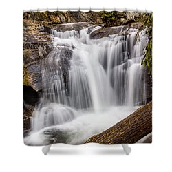 Shower Curtain featuring the photograph Dukes Creek Falls by Michael Sussman