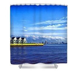 Duluth Minnesota Harbor Shower Curtain