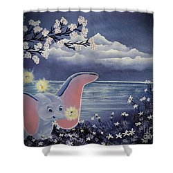 Dumbo Shower Curtain by Dianna Lewis
