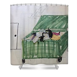 Dumpster Shower Curtain