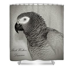 Duncan, Signed Shower Curtain