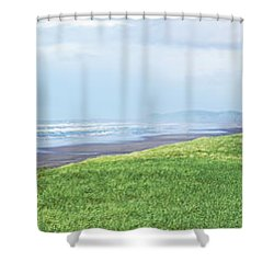 Dune At Fort Stevens Shower Curtain by Angi Parks
