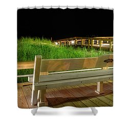 Dune Bench At Night Shower Curtain