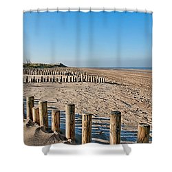 Dune Conservation Holme Dunes North Norfolk Uk Shower Curtain by John Edwards