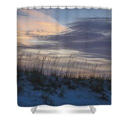 Dune Grass Blue Shower Curtain