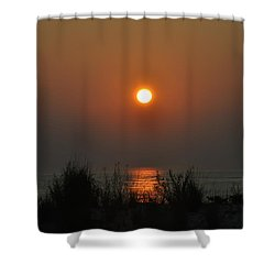 Dune Grass Sunrise Shower Curtain by Bill Cannon