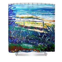 Shower Curtain featuring the painting Dune Grasses by Winsome Gunning