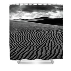 Shower Curtain featuring the photograph Dune Lines by Stephen Holst