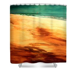 Shower Curtain featuring the painting Dune Shadows by Winsome Gunning