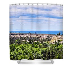 Dunes Along Lake Michigan Shower Curtain