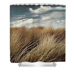 Dunes And Clouds Shower Curtain