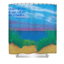Dunes At Dawn - With Quote Shower Curtain