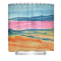 Shower Curtain featuring the painting Dunes by Ellen Levinson