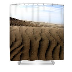 Dunes Of Alaska Shower Curtain by Anthony Jones
