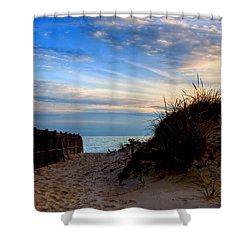 Dunes On The Cape Shower Curtain by Joann Vitali