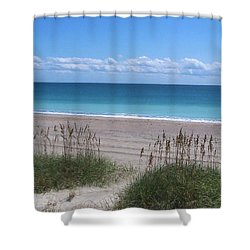 Shower Curtain featuring the photograph Dunes On The Outerbanks by Sandi OReilly