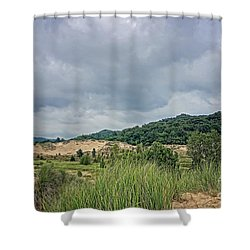 Shower Curtain featuring the photograph Dunes Or Doom by Kathi Mirto