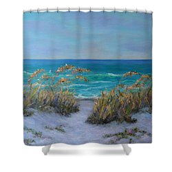 Dunes Path Ocean Painting Part 1 Shower Curtain