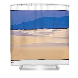 Dunes With Mountains Shower Curtain by R Thomas Berner