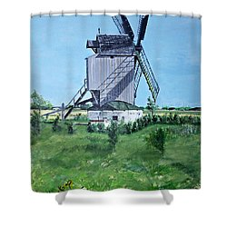 Dunkerque Windmill North Of France Shower Curtain
