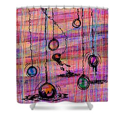 Dunking Ornaments Shower Curtain by Rachel Christine Nowicki