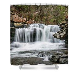 Dunloup Creek Falls Shower Curtain