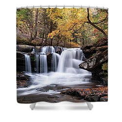 Shower Curtain featuring the photograph Dunloup Falls - D009961 by Daniel Dempster