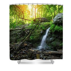 Dunnfield Creek Sunrise  Shower Curtain
