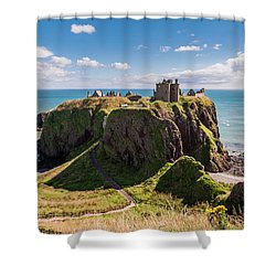 Dunnotar Castle Shower Curtain by Sergey Simanovsky
