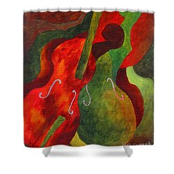 Duo Fiddles Shower Curtain