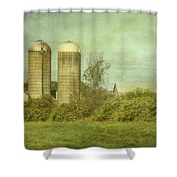 Duo Silos  Shower Curtain