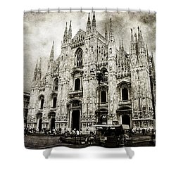 Shower Curtain featuring the photograph Duomo Di Milano by Laura Melis