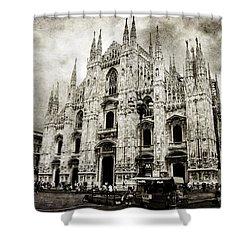 Duomo Di Milano Shower Curtain by Laura Melis