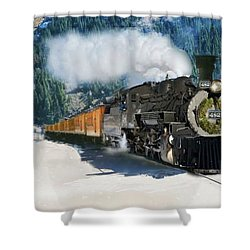Durango To Silverton Train Shower Curtain