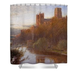 Durham Cathedral Shower Curtain by Albert Goodwin