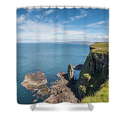 Shower Curtain featuring the photograph Handa Island - Sutherland by Pat Speirs