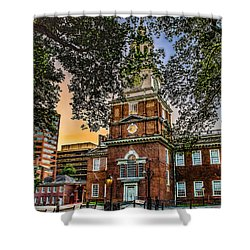 Dusk At Independence Hall Shower Curtain