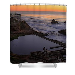 Dusk At Sutro Baths Shower Curtain