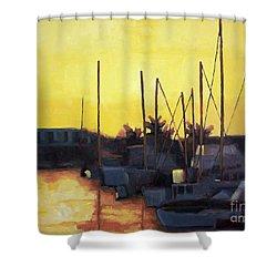 Dusk At The Marina Shower Curtain