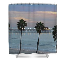 Dusk At The Pier Shower Curtain