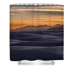 Dusk At White Sands Shower Curtain