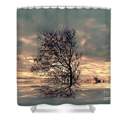 Shower Curtain featuring the photograph Dusk by Elfriede Fulda