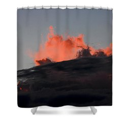 Dusk Eruption Shower Curtain