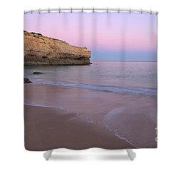Dusk In Albandeira Beach Shower Curtain