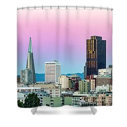 Shower Curtain featuring the photograph Dusk In San Francisco by Bill Gallagher