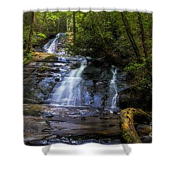 Dusk Light At Flat Branch Falls Shower Curtain