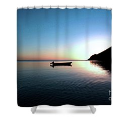 Dusk On The Island Of Korovou Fiji   Shower Curtain