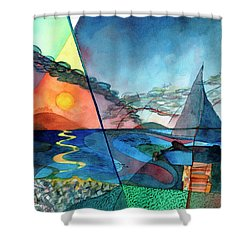 Dusk Over The Chesapeake Shower Curtain